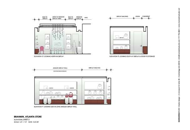 BRAHMIN Atlanta: Design Elevations Sheet 2 | MANDARINA STUDIO interior design