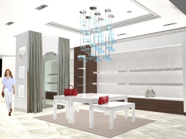 Retail Design: Brahmin, Dallas Store Rendering